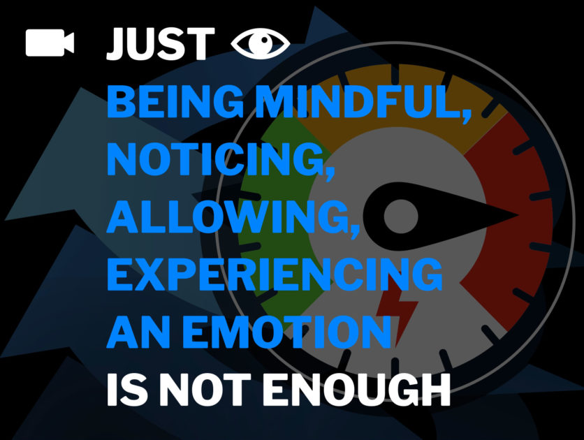 Just noticing an emotion, being mindful is not enough